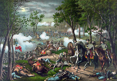 Battle Of Chancellorsville - Death Of Stonewall Art Print