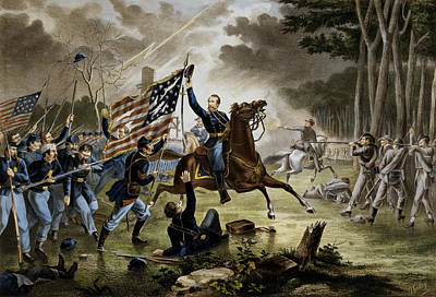 Battle Of Chantilly - Civil War Art Print