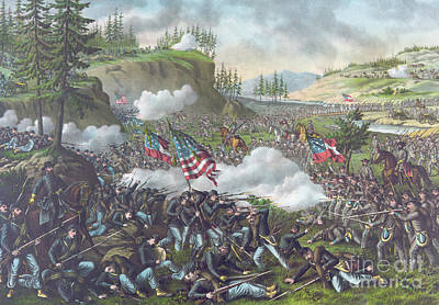 Battle Of Chickamauga Art Print by American School