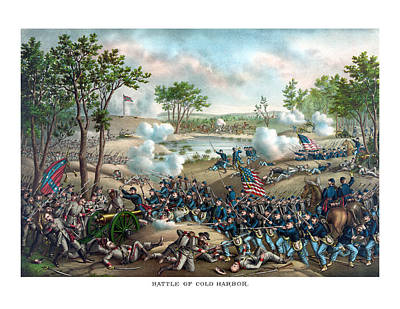 Warishellstore Painting - Battle Of Cold Harbor by War Is Hell Store