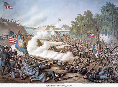 Battle Of Corinth, 1862 Art Print