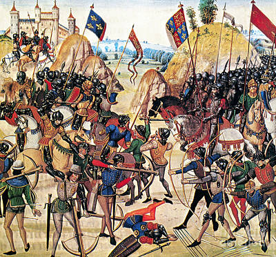 Battle Of Crecy, 1346 Art Print by Granger