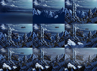 Digital Art - Battle Of Eagle's Peak Progression by Curtiss Shaffer