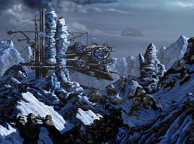 Digital Art - Battle Of Eagle's Peak by Curtiss Shaffer