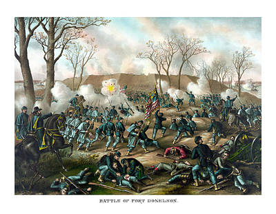 Battle Of Fort Donelson Art Print by War Is Hell Store