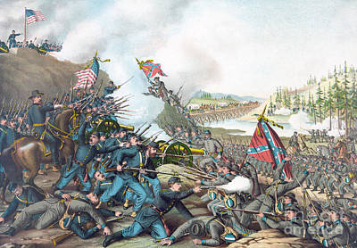 Battle Of Franklin Print by American School