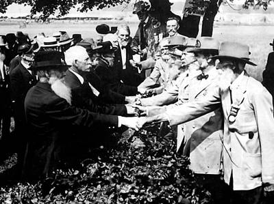 Photograph - Battle Of Gettysburg 1913 Reunion by Paul Van Scott