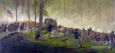 Army Of The Potomac Photograph - Battle Of Gettysburg, Culps Hill, 1863 by Science Source