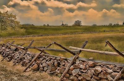 Photograph -  Civil War Battlefield - Gettysburg by Dyle   Warren