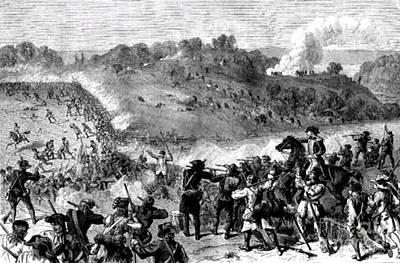 Battle Of Harlem Heights, 1776 Art Print