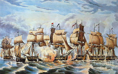 Photograph - Battle Of Lake Erie, 1813 by Granger