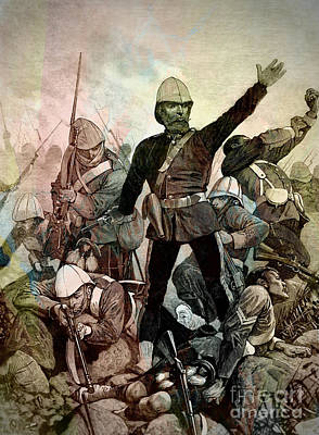Drawing - Battle Of Majuba Mountain  by Ian Gledhill