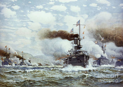 Philippines Painting - Battle Of Manila Bay 1898 by Granger