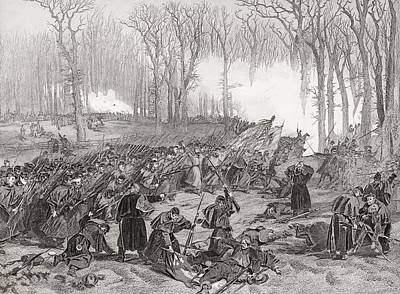 Creek Drawing - Battle Of Mill Creek Kentucky 1862 by Vintage Design Pics