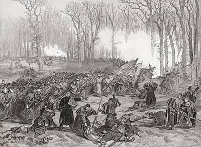 Creek Drawing - Battle Of Mill Creek Kentucky 1862 by Vintage Design Pics
