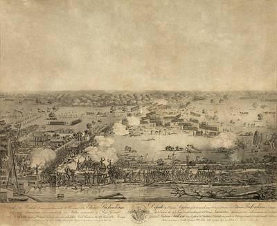 Battle Of New Orleans. The British Art Print
