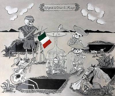 Puebla Painting - Battle Of Puebla by John Martinez