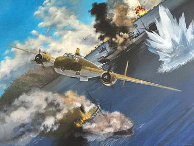 Battle Of Rabaul Art Print by Devon Packwood