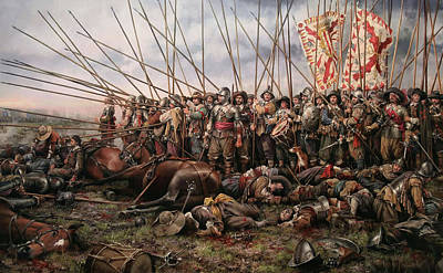 Staff Painting - Battle Of Rocroi by Mountain Dreams