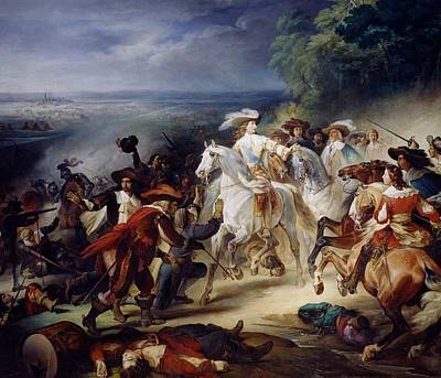 Battle Of Rocroy Art Print by Francois Joseph Heim