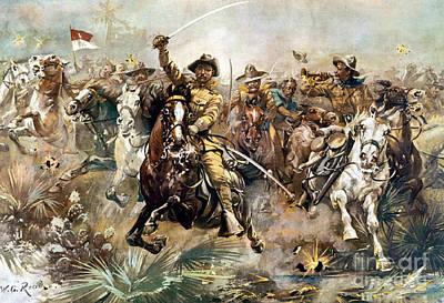 Battle Of San Juan Hill, 1898 Art Print