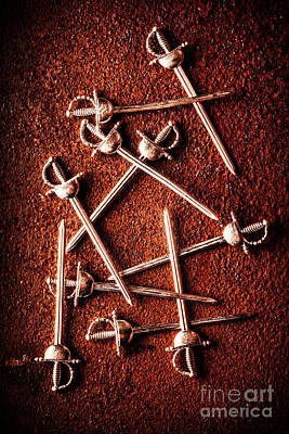 Metal Art Photograph - Battle Of Swords by Jorgo Photography - Wall Art Gallery