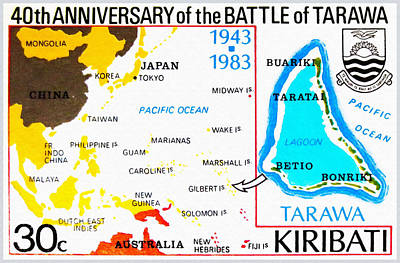 40th Anniversary Painting - Battle Of Tarawa by Lanjee Chee