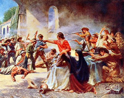 Battle Of The Alamo, 1836 Art Print by Science Source
