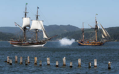 Photograph - Battle Of The Pirate Ships II by Athena Mckinzie