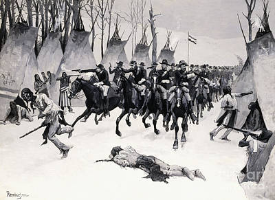 Painting - Battle Of Washita by Frederic Remington