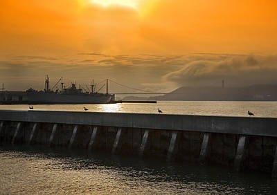 Battle Ship Photograph - Battle Ship On The Bay by Joel P Black