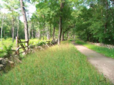 Painting - Battle Trail by Eddie Durrett