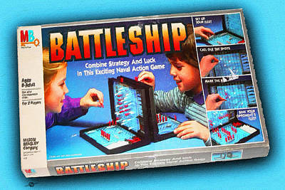 Painting - Battleship Board Game Painting  by Tony Rubino