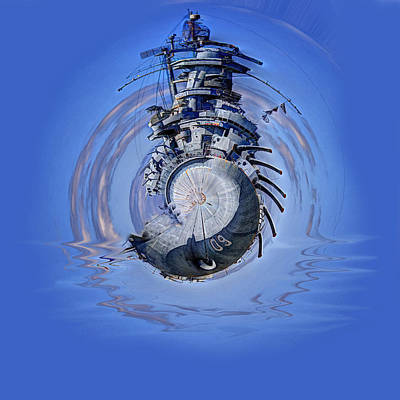 Photograph - Battleship - Contemporary Digital Art by Barry Jones