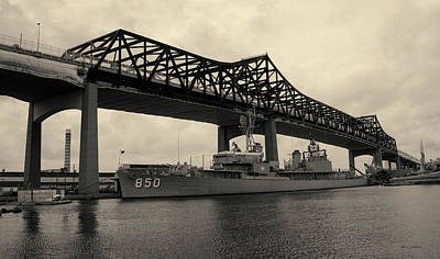 Photograph - Battleship Cove Panorama Toned by David Gordon