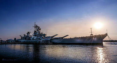 Us Navy Photograph - Battleship New Jersey by Marvin Spates