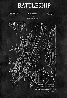 Drawing - Battleship Patent by Dan Sproul