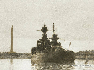 Photograph - Battleship Texas by Charles McKelroy