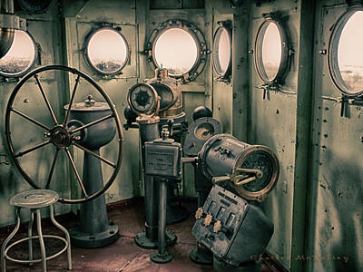 Photograph - Battleship Texas Helm by Charles McKelroy