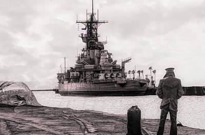 Photograph - Battleship U S S Iowa by Joseph Hollingsworth