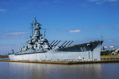 Photograph - Battleship - Uss Alabama by Barry Jones