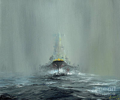 Battleship Yamato, 1945 Art Print