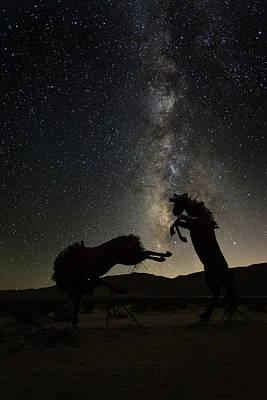 Photograph - Battling Horses by Scott Cunningham