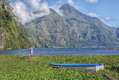 Floating House Photograph - Batur - Bali by Joana Kruse
