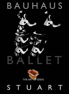 Bauhaus Ballet Black Art Print by Charles Stuart