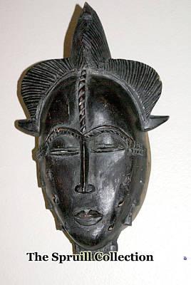Sculpture - Baule Tribal Mask by Everett Spruill