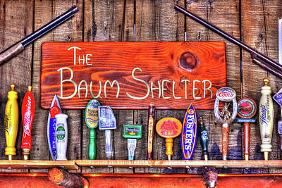 Photograph - Baum Bar Sign by Richard J Cassato