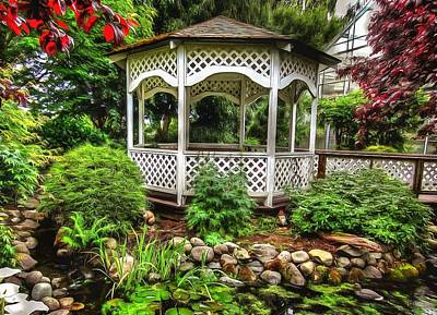 Photograph - Bauman Farms Gazebo by Thom Zehrfeld