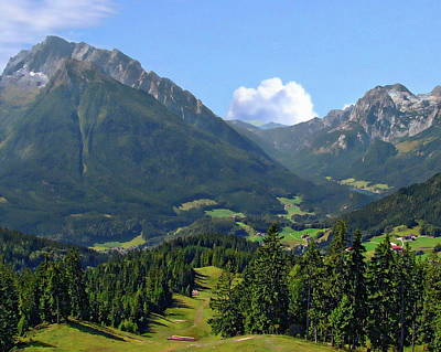 Photograph - Bavarian Alps by Anthony Dezenzio