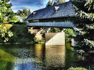 Michigan Frankenmuth Photograph - Bavarian Bridge by Bill Noonan